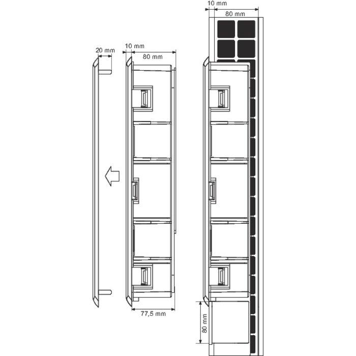 Coffret Quickbox pour collecteur de plancher chauffant - Plastique-1