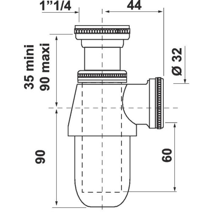 Siphon de lavabo - Laiton-1