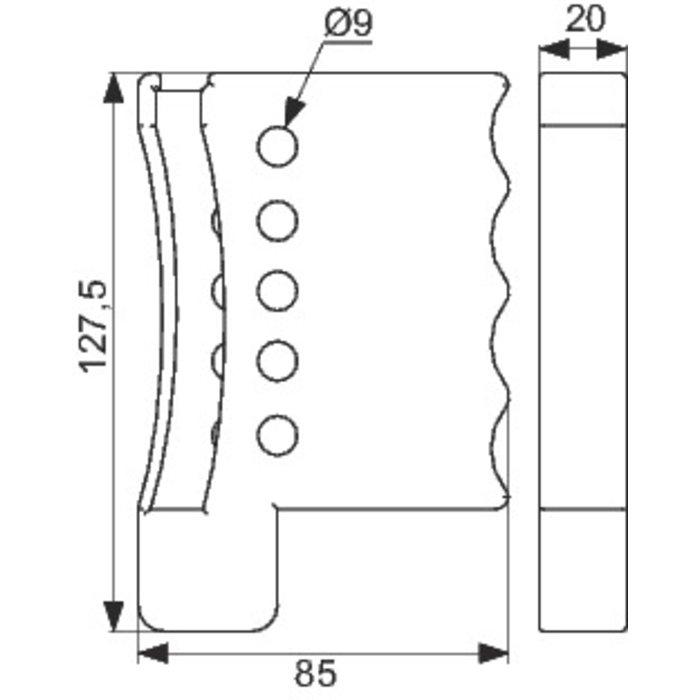 Câble de consignation ajustable - Longueur 1,8 m-1