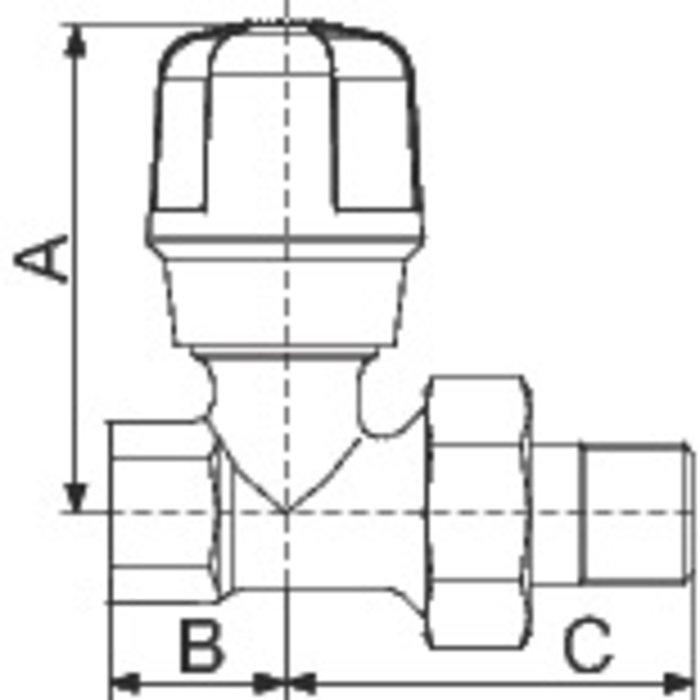 Robinet de radiateur manuel - Droit - Femelle-1