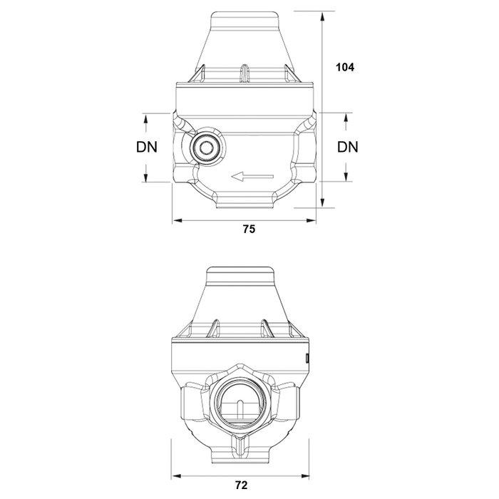 Réducteur de pression Isobar+ CC - Femelle / Femelle-1