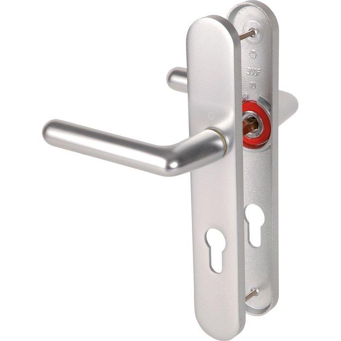 Poignée de porte sur plaque Cortina - Argent-1