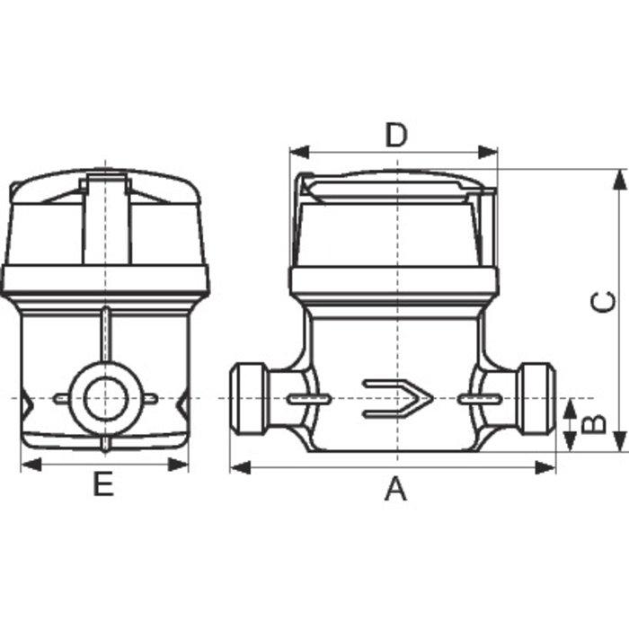 Compteur d'eau divisionnaire volumétrique Aquadis+ - Eau froide-1