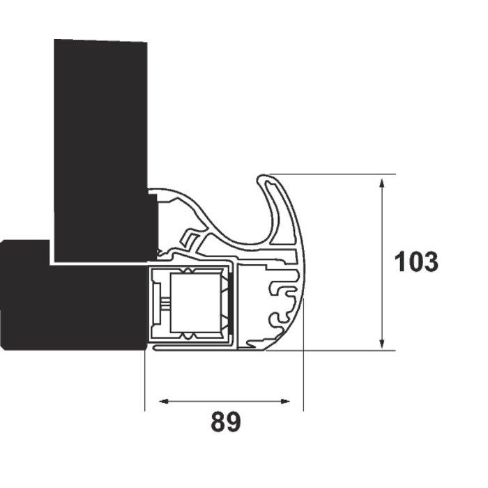 Bandeau ventouse GRS300 - Alimentation automatique - Tension 12 / 24 / 48 V-2