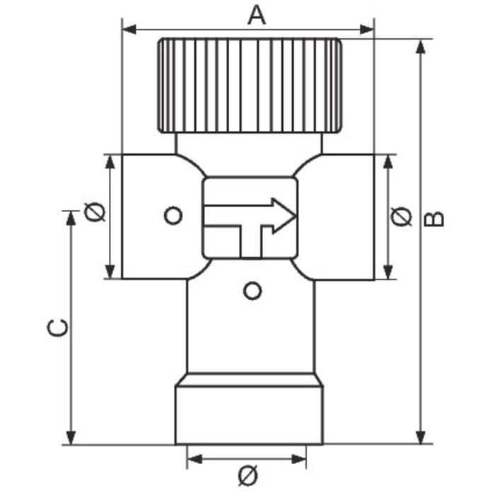 Mitigeur thermostatique Mixcal pour chauffe-eau - Femelle-1