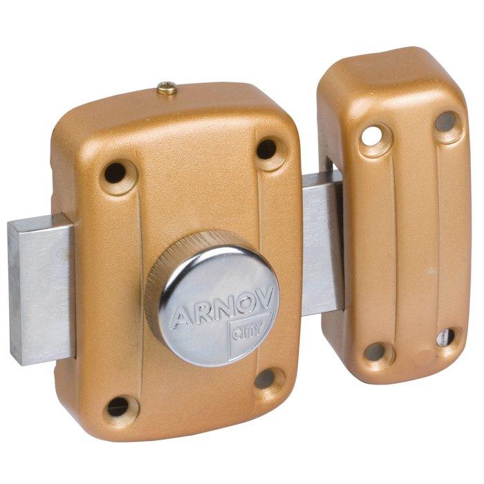 Verrou à bouton Cavith modèle 4115 - Bronze or-1
