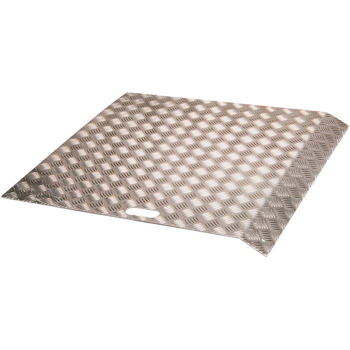 Rampe d'accès pour trottoir - Aluminium - Dimension 80 x 80 cm - Dénivelée 19-36 cm