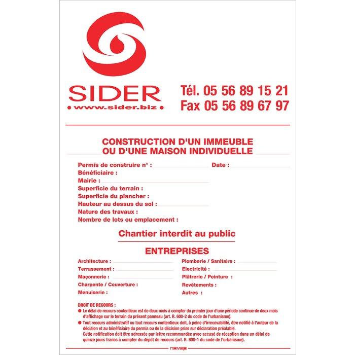 Panneau d'information sur chantier - Dimension 12 x 8 cm-1