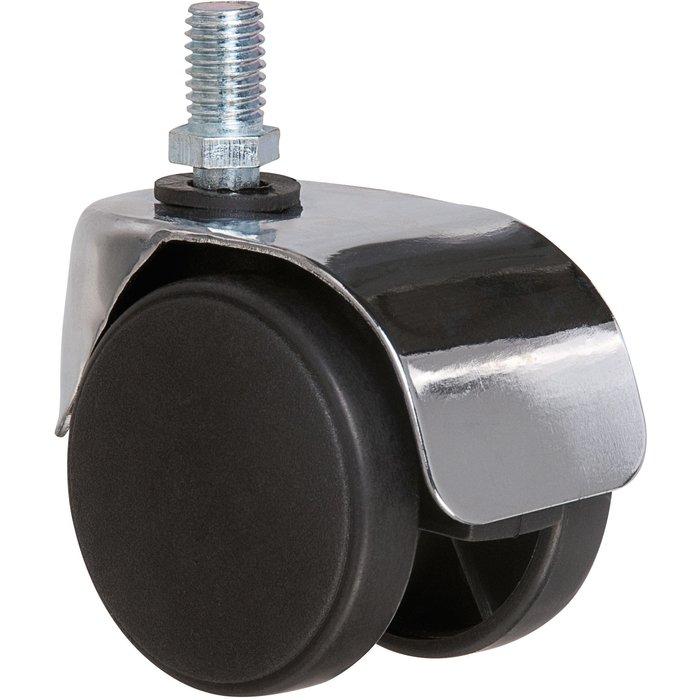 Roulette jumelée ameublement à tige filetée série S49 ZT