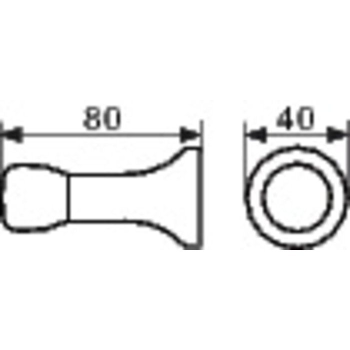Butoir de porte 4080 - Aluminium - Diamètre 40 mm-1