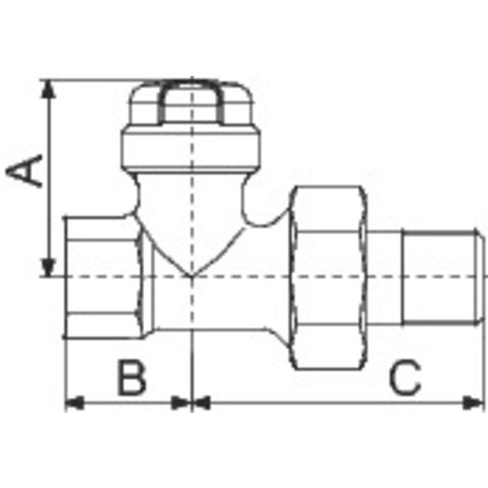 Té de réglage pour radiateur - Femelle-1