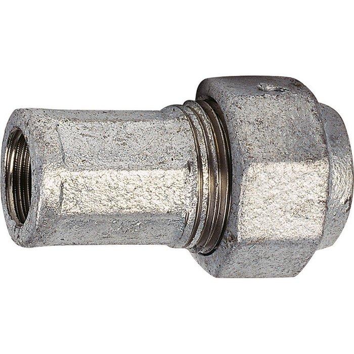 Raccord à serrage extérieur - Fonte galvanisée - Femelle-1