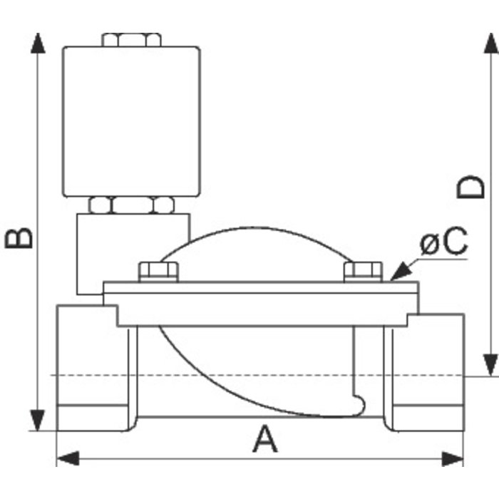 Électrovanne à membrane assistée ESM 86-1