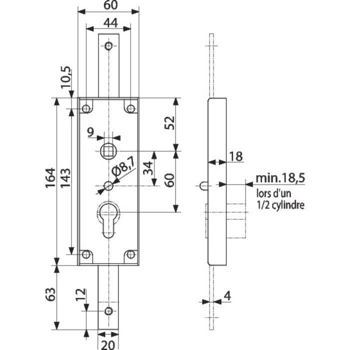 Serrure WSS - Pour porte de garage basculante-1