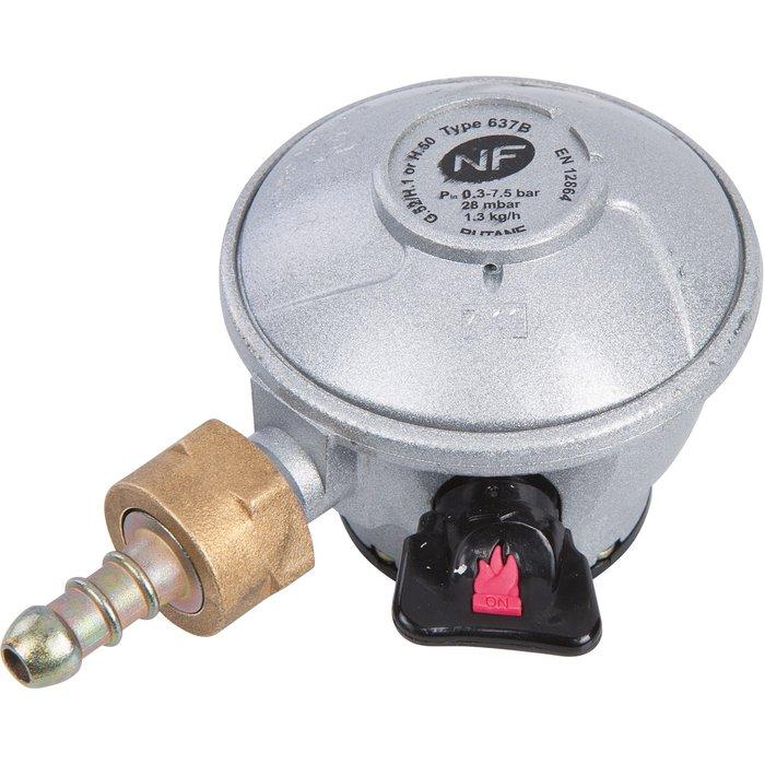 Détendeur gaz butane à sécurité - Pour bouteille Elf-Malice, Twiny