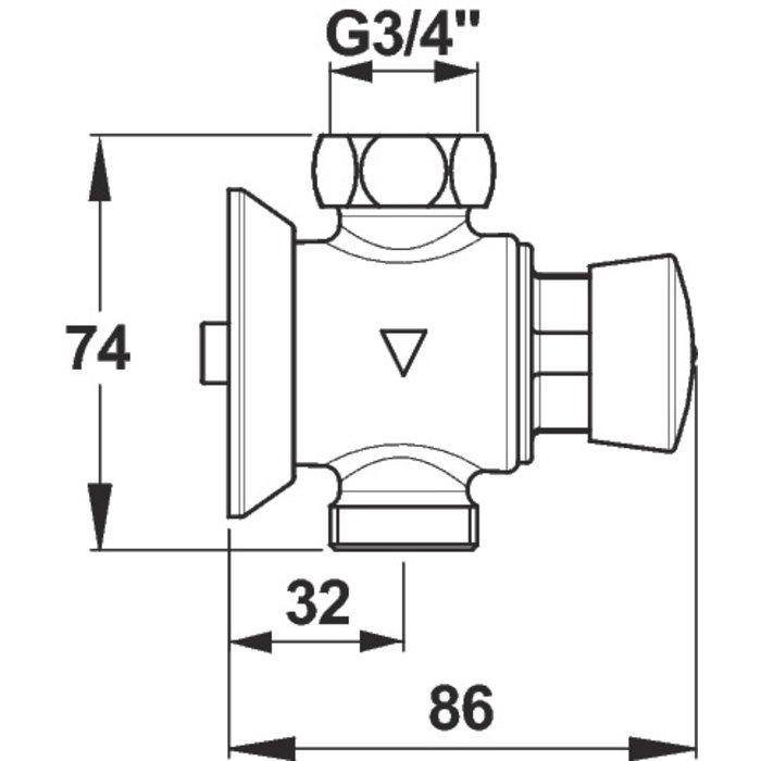 Robinet temporisé urinoir P60-1
