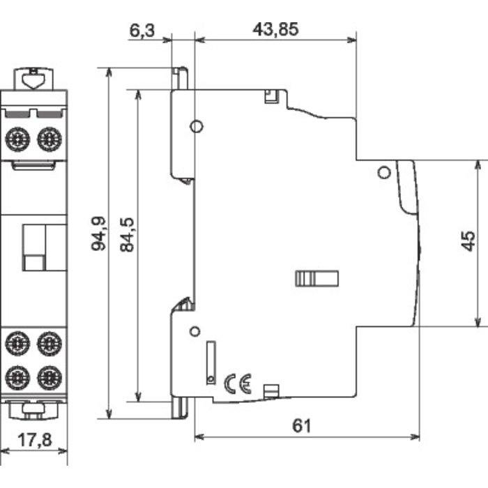 Contacteur de puissance - Sans commande manuelle - 16A et 25A-1