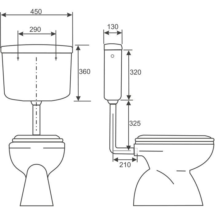 Réservoir WC semi-bas - Interrompable-1