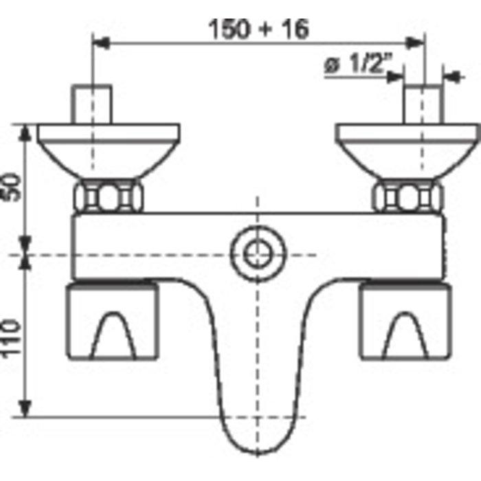 Mélangeur bain-douche mural E 150 Equinoxe-1