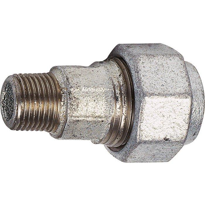 Raccord à serrage extérieur - Fonte galvanisée - Mâle-1