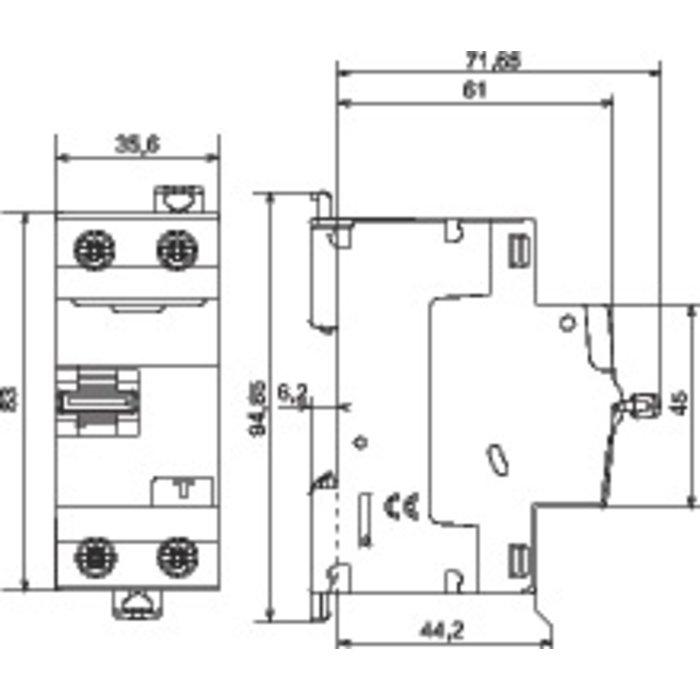 Interrupteur différentiel DX³-ID - Bipolaire - Protection tête de groupe - Arrivée haut / Départ bas-1