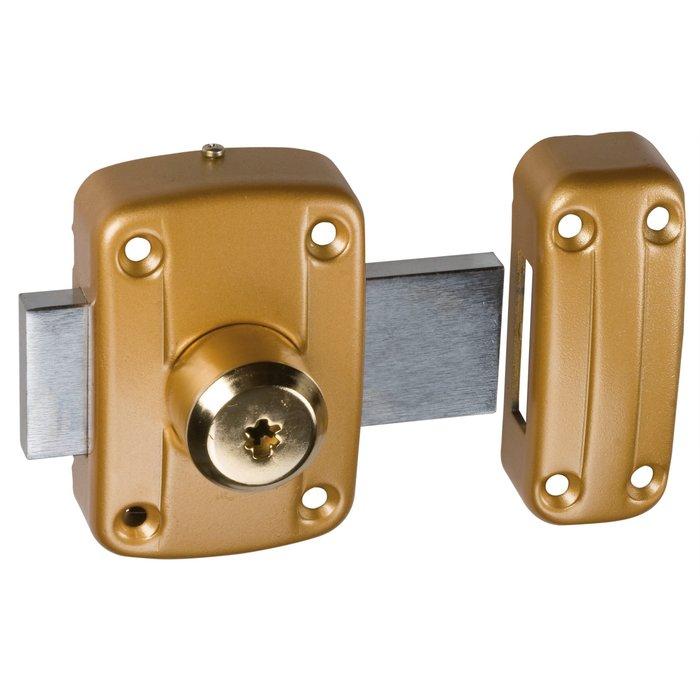 Verrou à cylindre double Cavith modèle 4116 - Bronze or-1