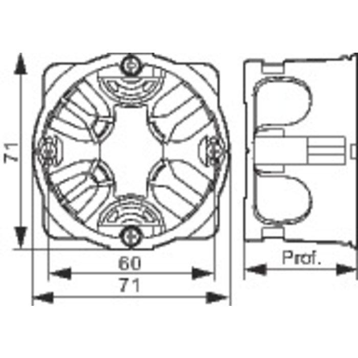 Boîte d'encastrement Batibox - 1 poste-1