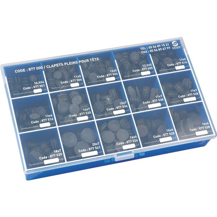Clapets pleins assortis - Qualité supérieure - Minikit de 500 pièces