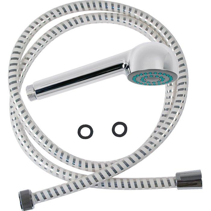Kit de douche jetable chromé avec douchette flexible