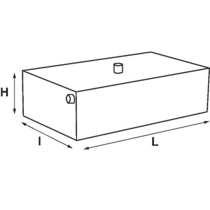 Vase d'expansion ouvert - Chauffage - Inox - Capacité 22 l-1
