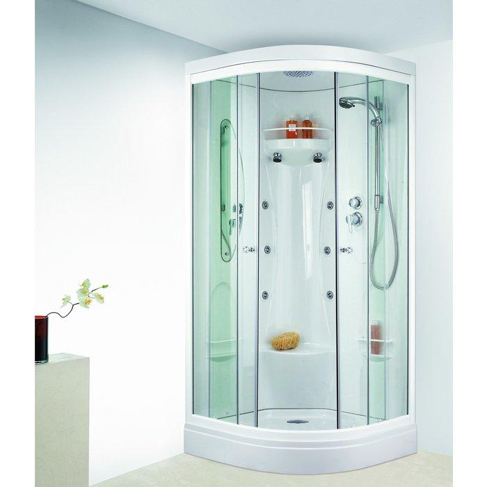 Cabine de douche Odyssée - Quart de rond - Portes coulissantes