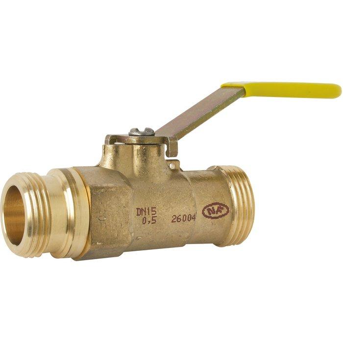 Robinet d'arrêt à joint plat - Spécial gaz naturel - Pour basse pression