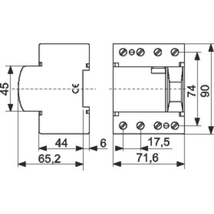 Interrupteur différentiel - Tétrapolaire - Sensibilité 30 mA - Protection des départs-1