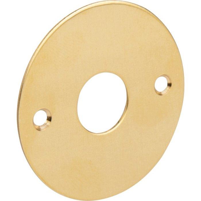 Rosace ronde et plate pour poignée de porte - Laiton poli-3