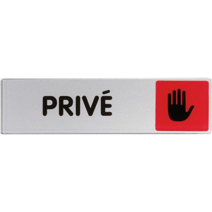 Plaque signalétique d'interdiction sur lieu de travail - Rouge-2