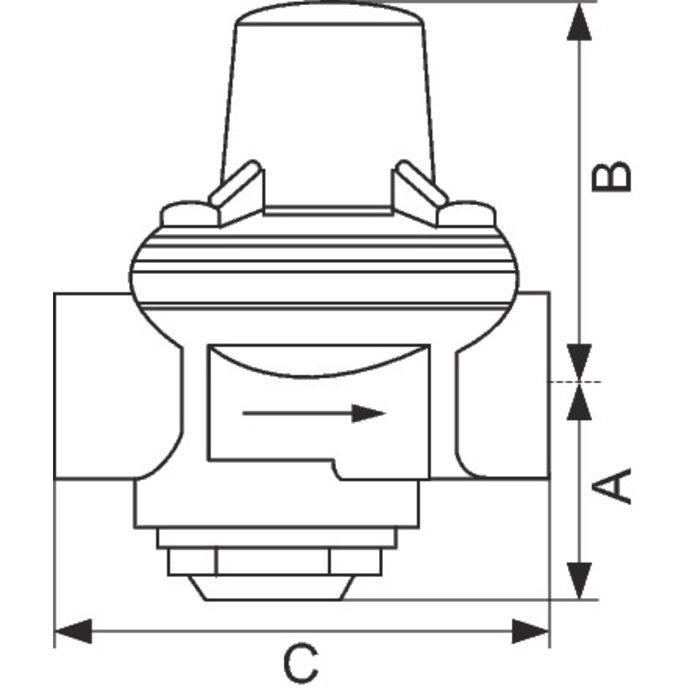 Réducteur de pression Junior n°7 bis - Femelle / Femelle-1