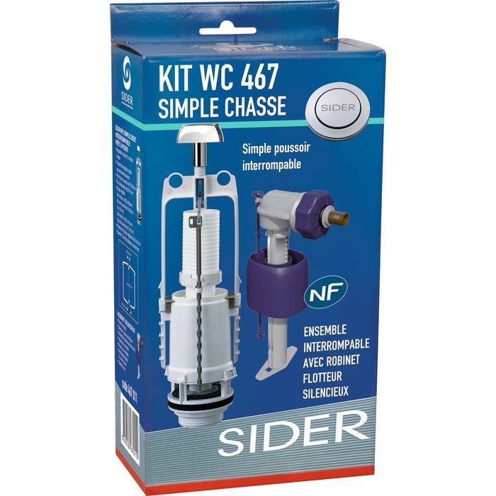 Kit mécanisme de WC 467 - Poussoir simple débit-4