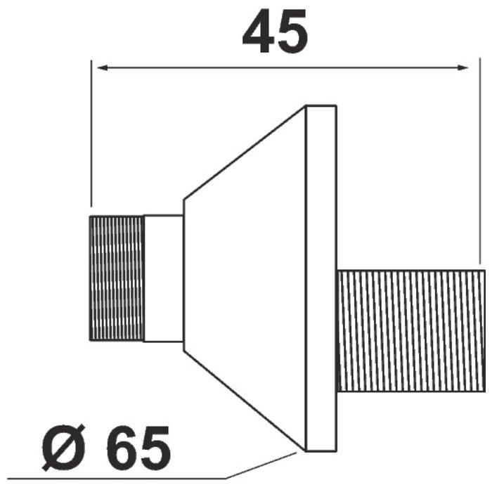 Raccord excentré - Mâle / Mâle - Excentration de 12,5 mm - Antibruit-1