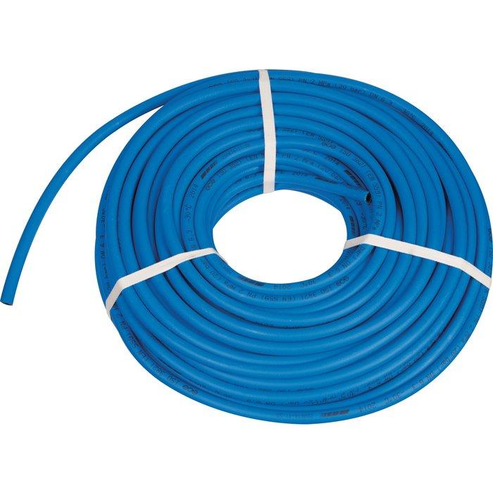 Tuyau caoutchouc - Bleu - Raccordement oxygène