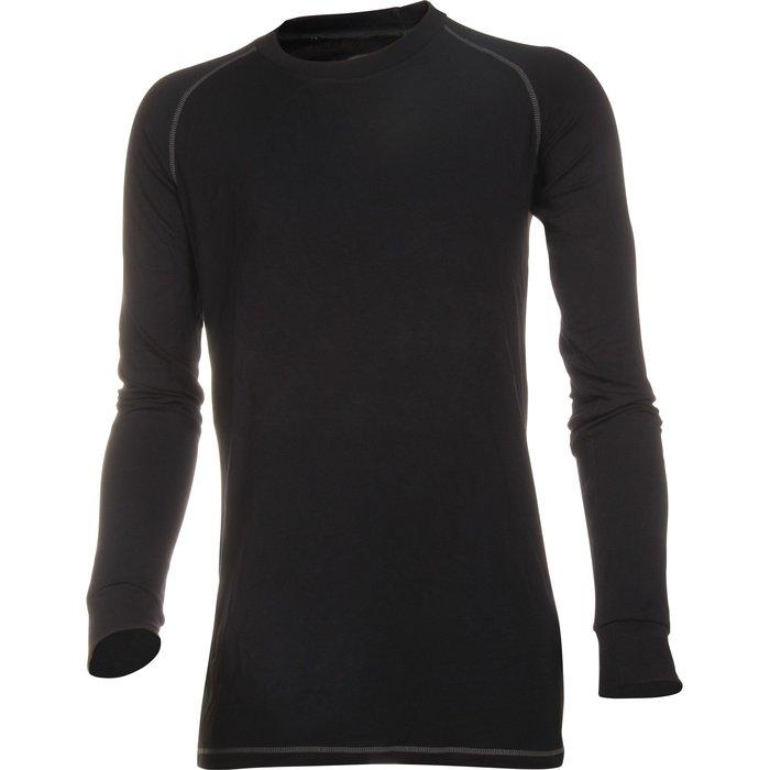 Sous-vêtement thermique - Manches longues - Fil de bambou - Noir