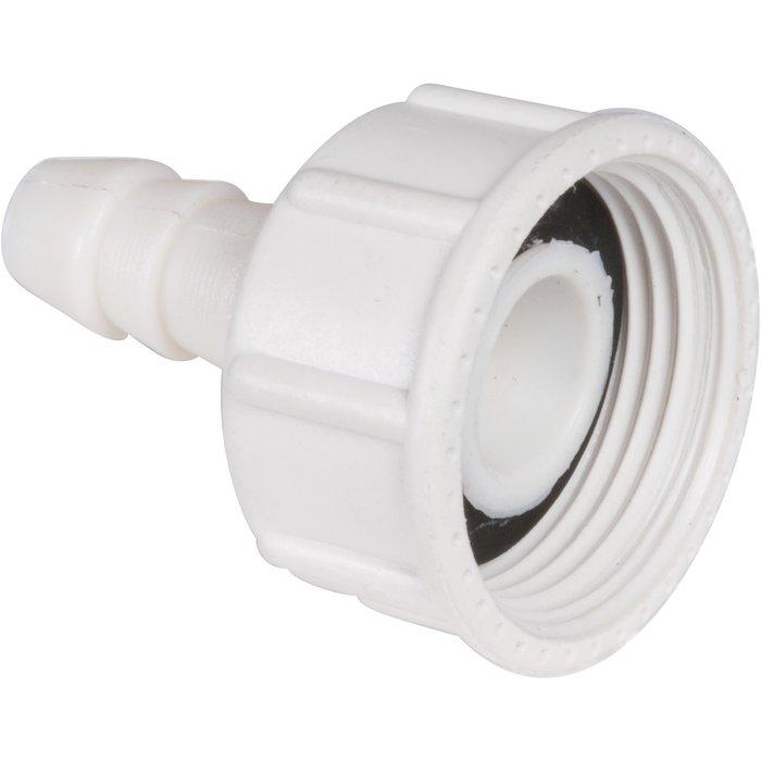 Écrou de raccordement - Droit - Pour flexible d'alimentation de machine à laver-1
