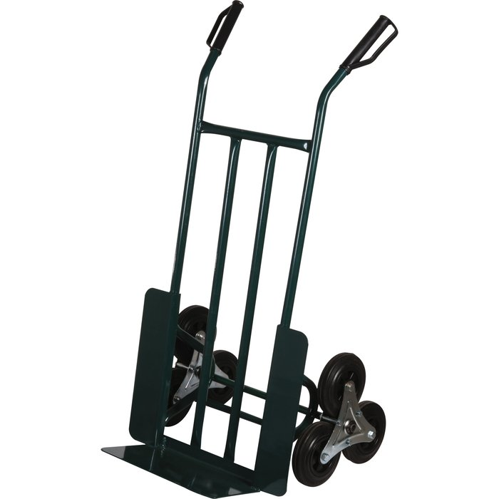 Diable de manutention 3 roues - Acier - Vert - Charge 200 kg