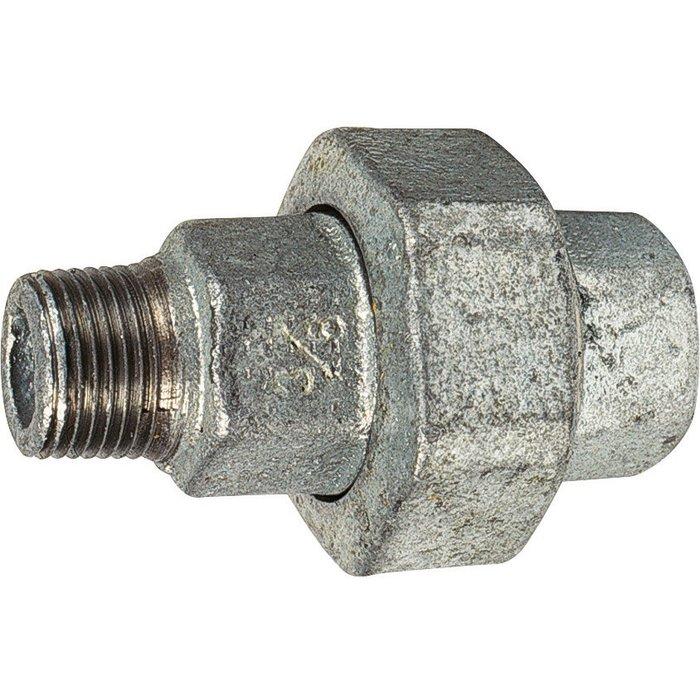 Raccord union conique - Fonte galvanisée - Mâle / Femelle - 341