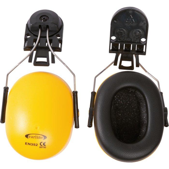 Coquille anti-bruit pour casque de chantier - Avec adaptateur - Réduction sonore 23 dB-1