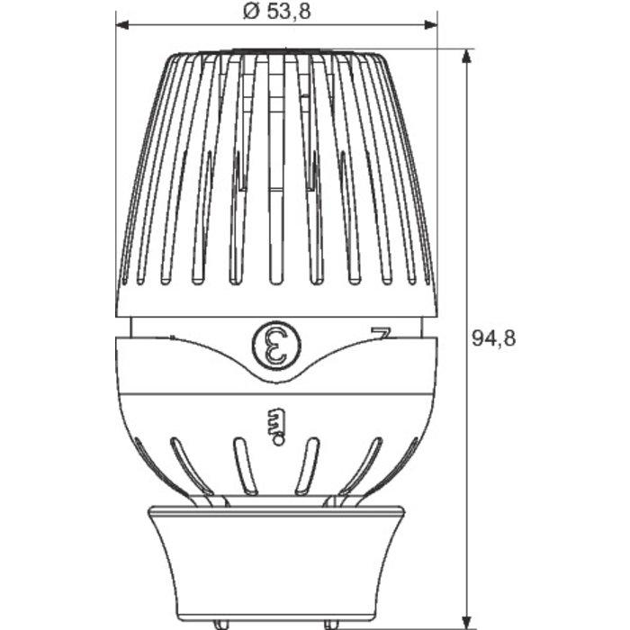 Tête de robinet thermostatique R460 de radiateur - Bulbe liquide-1