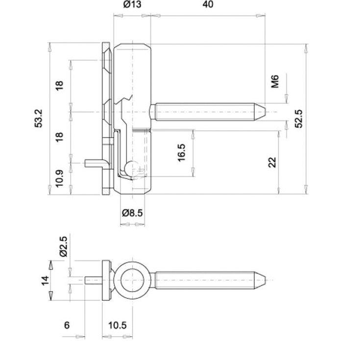 Fiche sur platine - À vis invisible - PVC-1