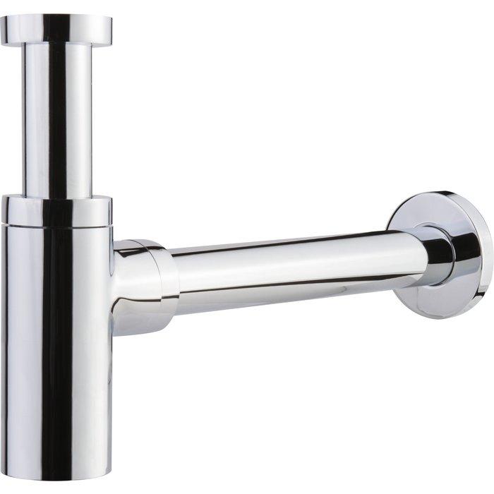 Siphon design de lavabo - Laiton chromé
