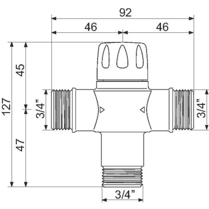 Mitigeur thermostatique collectif MIX 52120-1