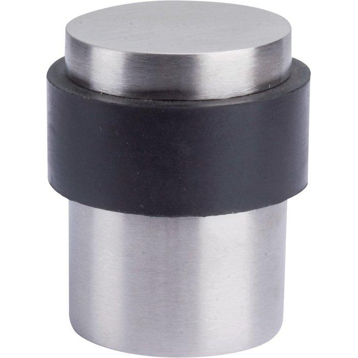 Butoir de porte cylindrique - Inox brossé - Diamètre 35 mm