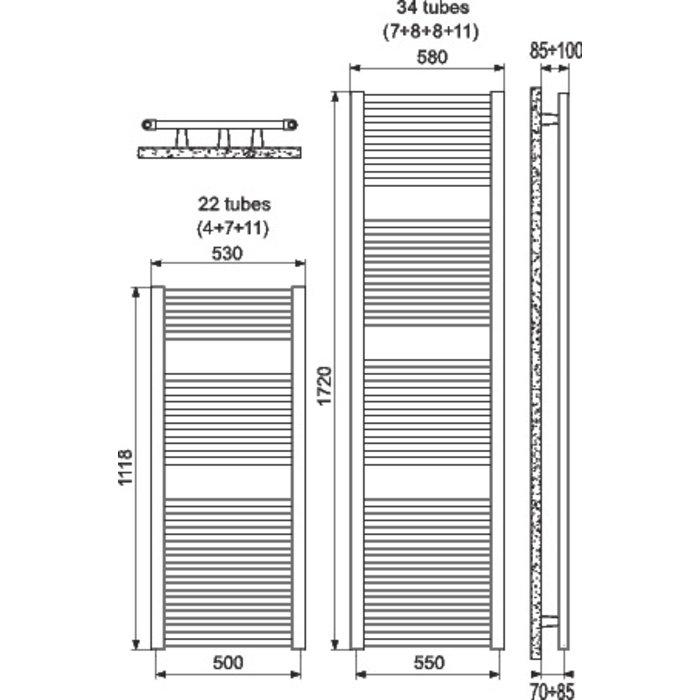 Sèche-serviette mixte Ares - Blanc-1